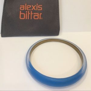 Alexis Bittar Blue Tapered Bangle